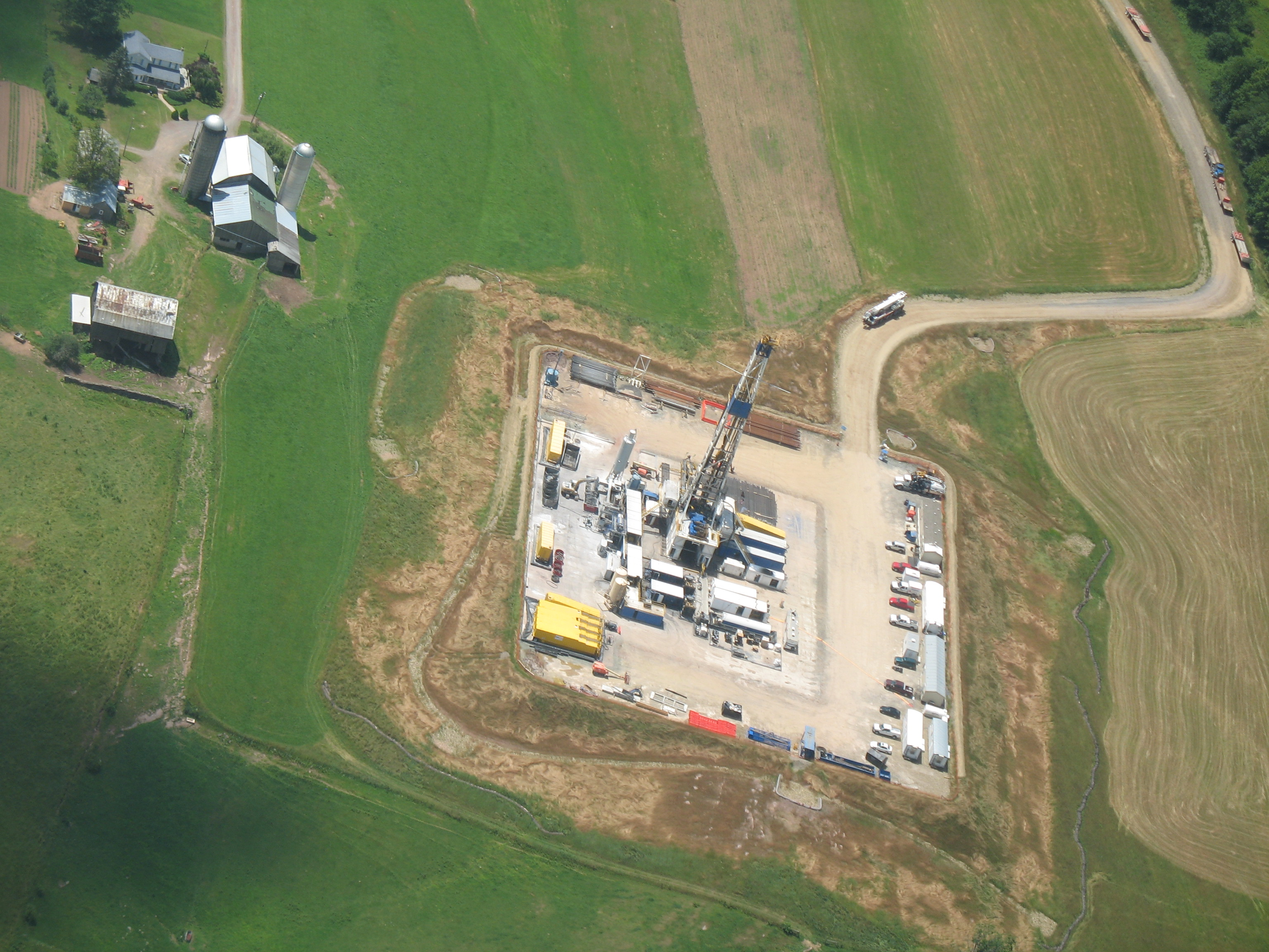 Marcellus Shale drilling well in Lycoming County by Mark Lawrence II