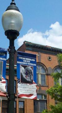 Sunbury veterans banner