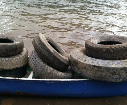 Susquehanna River cleanup project trash