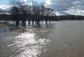 Susquehanna river, flood, marina, confluence, West, North, high water